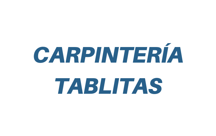 Carpintería Tablitas