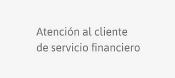 Atención al cliente del servicio financiero